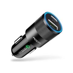 Ładowarka samochodowa USB-C ROCK Power Delivery QC