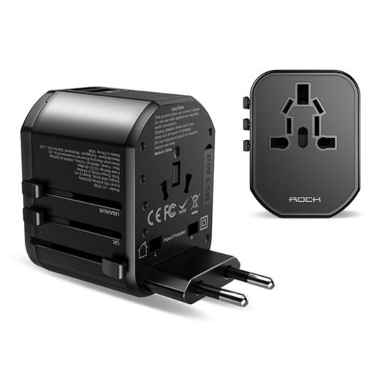 Adapter Podróżny Przejściówka ROCK Ładowarka USB