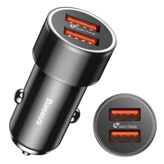BASEUS Ładowarka samochodowa USB 36W 2xQC 3.0