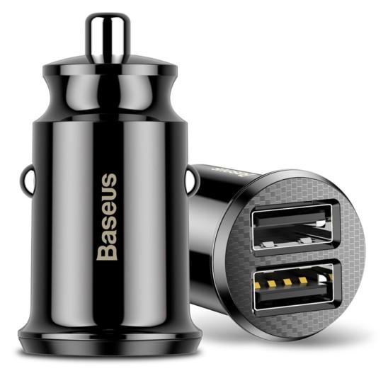 BASEUS Ładowarka samochodowa Mini 2x USB 3.1A