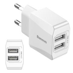 Mini ładowarka sieciowa BASEUS 2x USB 2.1A