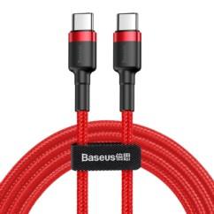 Kabel nylonowy Baseus Cafule 60W 2x USB-C PD 200cm