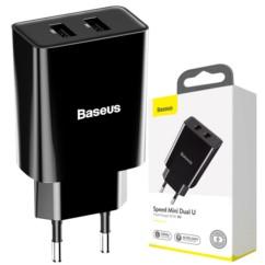 BASEUS Mini Ładowarka sieciowa 2x USB 10.5W