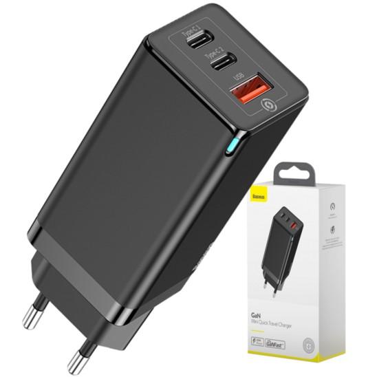 BASEUS GaN Ładowarka sieciowa 2x USB C PD QC SCP