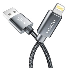 Kabel USB ROCK Lightning Nylonowy do iPhone 180 cm