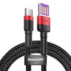 Baseus Cafule Kabel nylonowy USB-C 5A 100cm