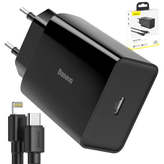 BASEUS Ładowarka Sieciowa 18W PD + kabel