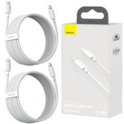 BASEUS 2x Kabel USB-C do Lightning PD 20W 1.5m