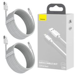 BASEUS 2x Kabel USB - Lightning 2.4A 1.5m