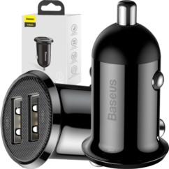 BASEUS GRAIN Pro Ładowarka samochodowa 2x USB 4.8A