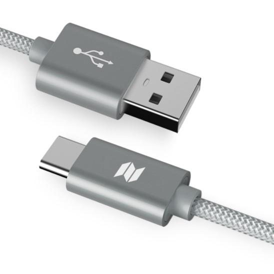 ROCK SPACE C2 Kabel USB-C Typ C Nylonowy 1m 2A