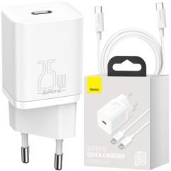 BASEUS Ładowarka sieciowa USB-C PD 25W + kabel USB