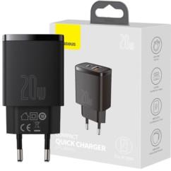 BASEUS Ładowarka Sieciowa USB PD QC 3.0 20W