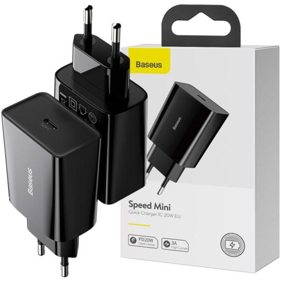 BASEUS Mini Ładowarka sieciowa USB-C PD 20W