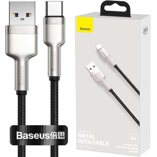 Baseus Cafule Metal Kabel nylonowy USB-C 66W 200cm