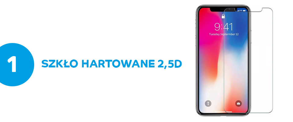 Szkło hartowane 2,5D ROCK iPhone X