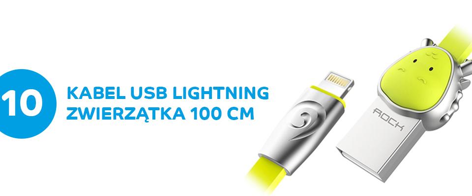 Kabel USB zwierzątka ROCK lightning 100 cm