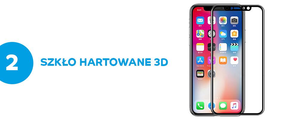 Szkło hartowane 3D ROCK iPhone X