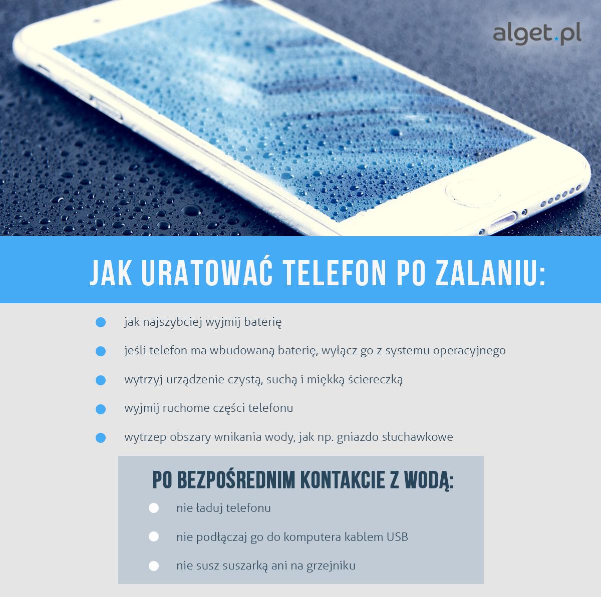 Jak uratować telefon po zalaniu