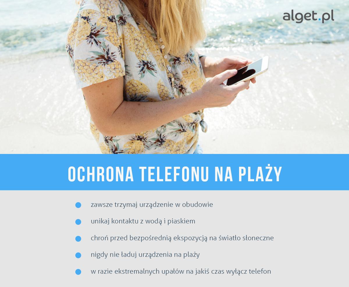 Ochrona telefonu na plaży